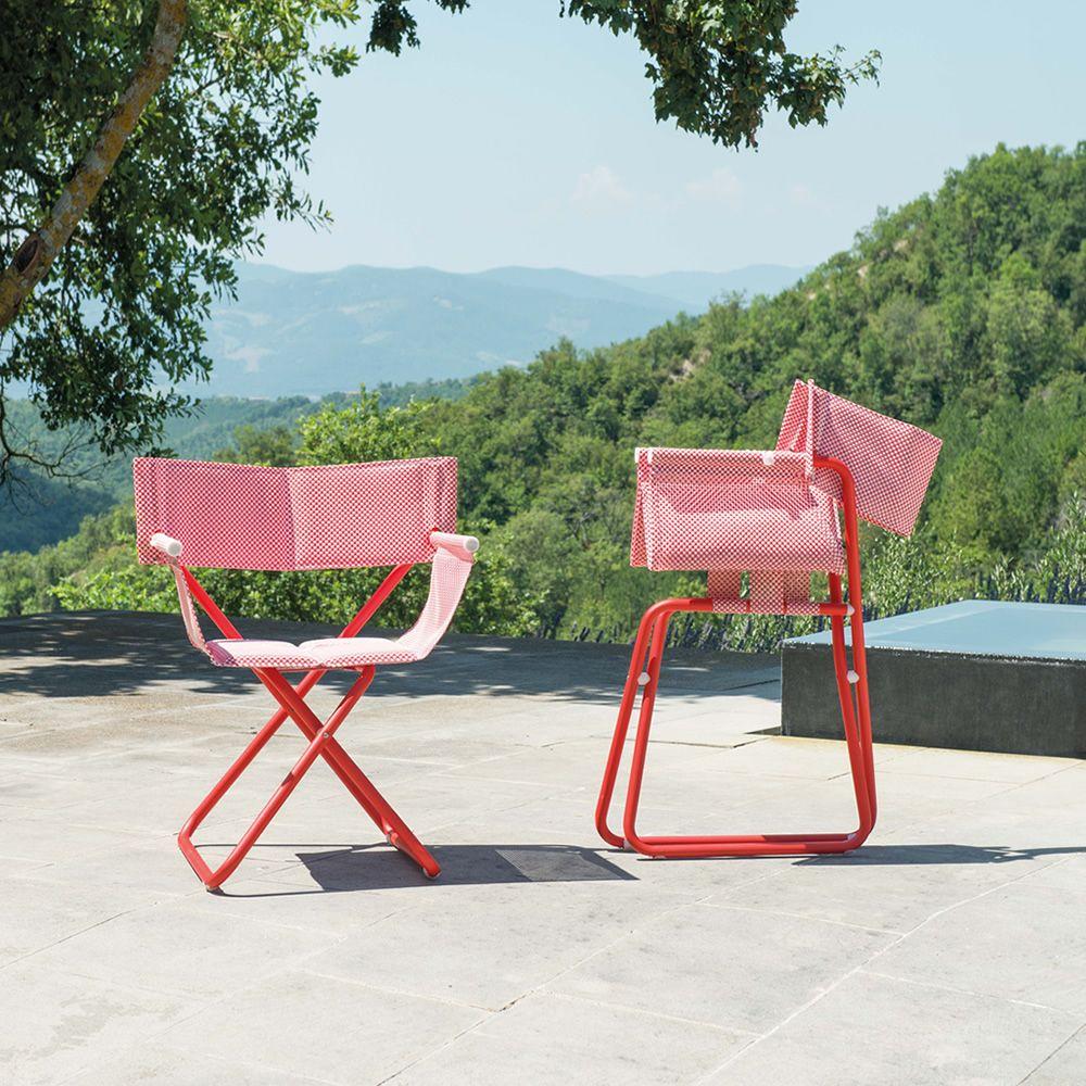 snooze r regie klappstuhl emu aus metall und netz klappbar f r garten sediarreda. Black Bedroom Furniture Sets. Home Design Ideas