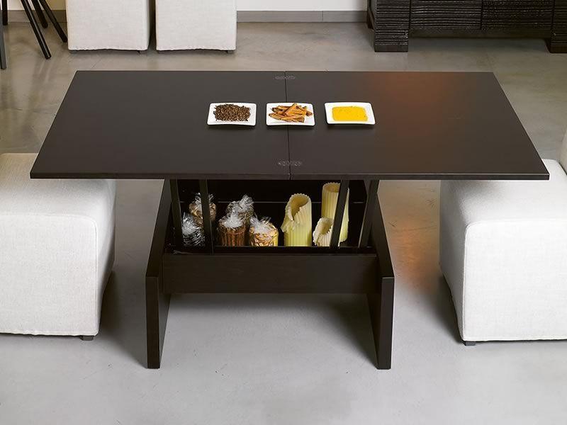 Marte tavolino da salotto trasformabile in tavolo da pranzo 80 160x80 cm sediarreda for Tavolo da biliardo trasformabile in tavolo da pranzo