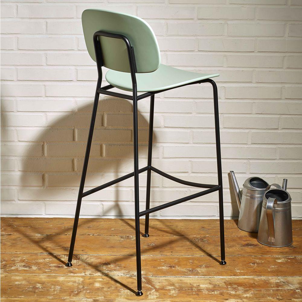 tondina sg pour bars et restaurants tabouret en m tal assise et dossier en bois multiplis ou. Black Bedroom Furniture Sets. Home Design Ideas