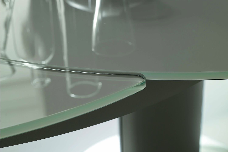 Giro tavolo rotondo di design bontempi casa in metallo piano
