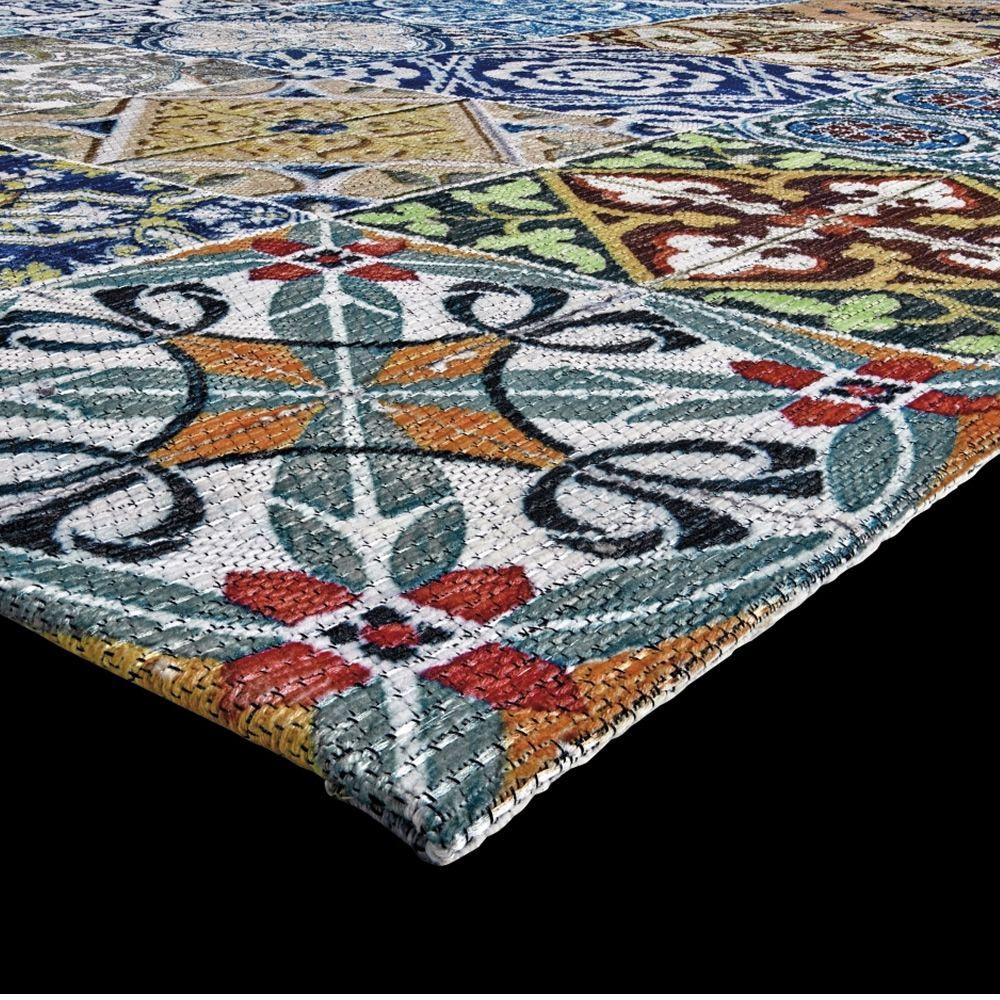 Sicily multi alfombra moderna de poli ster y algod n - Alfombras de poliester ...