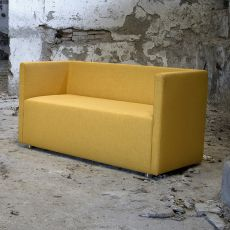 Bettie L - Modern sofa Domingo Salotti, 2 seats, available in fabric, leather or imitation leather, different colors