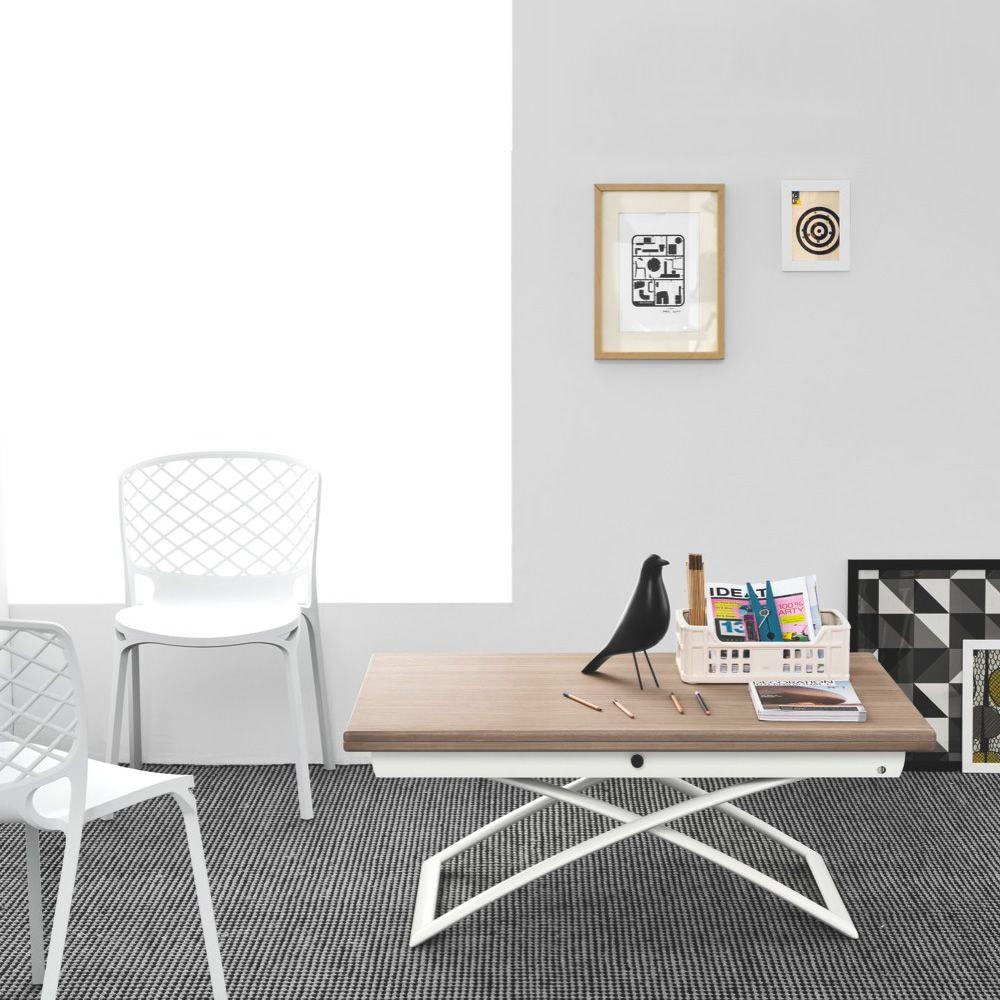 Magic By Ozzio Design.Cb5041 W Magic J Connubia Calligaris Metal Table Veneered