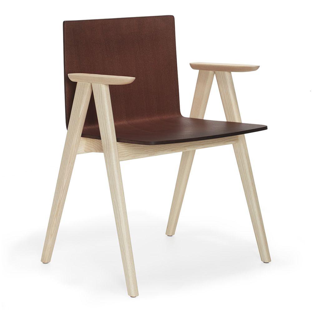 Osaka 2815 sedia con braccioli pedrali di design in - Sedia legno design ...