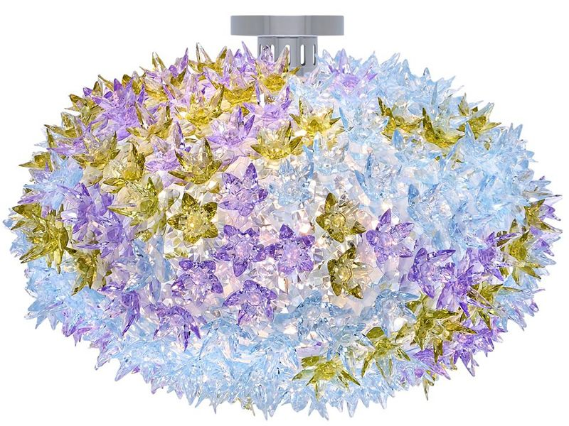 Bloom w kartell ceiling lamp made of technopolymer sediarreda