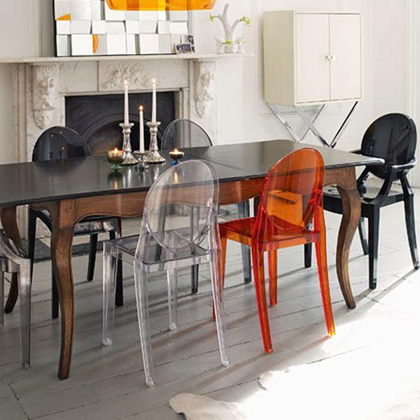 Victoria Ghost: Chaise Kartell design, en polycarbonate ...