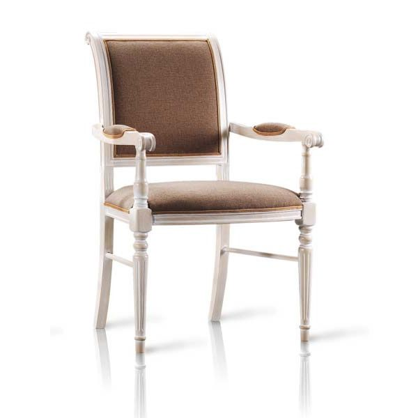 vst108 fauteuil en bois classique rembourr e diff rents coloris et rev tements sediarreda. Black Bedroom Furniture Sets. Home Design Ideas