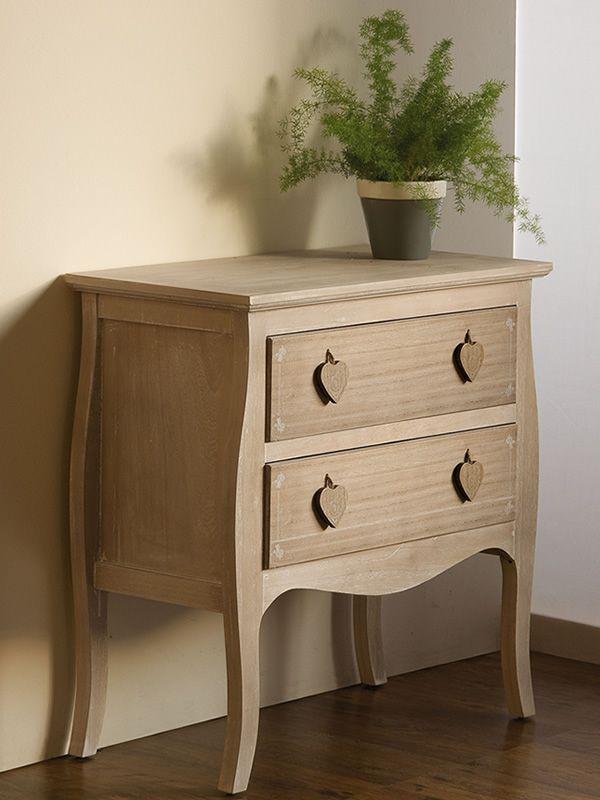 Lipari cassettiera shabby chic in legno sediarreda for Cassettiera shabby