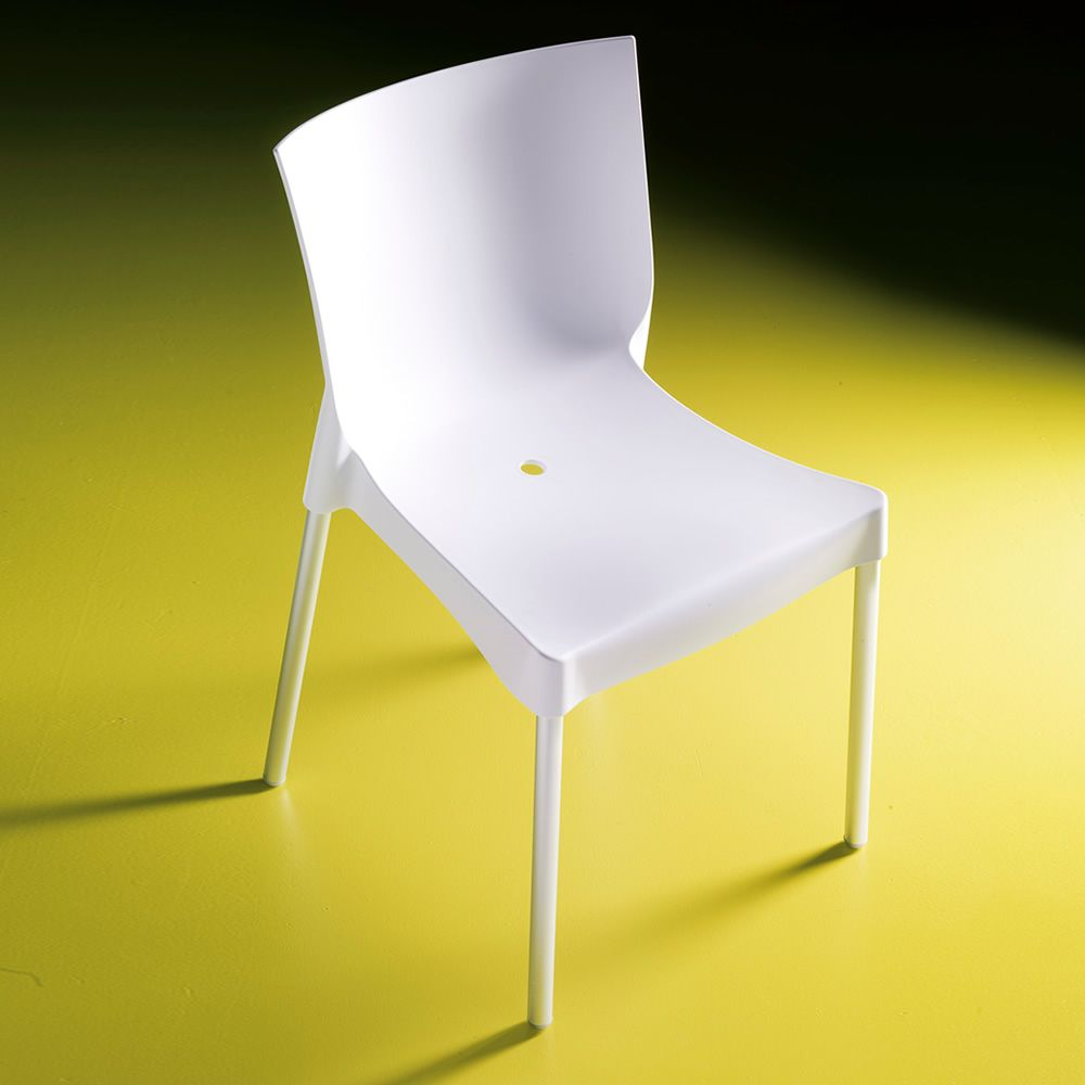 Diva off chaise empilable de bontempi casa en aluminium for Chaise 5013