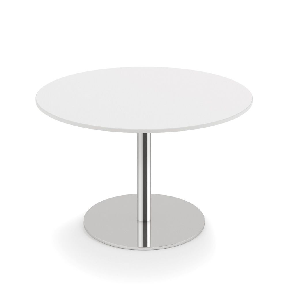 Round Coffee Table Standard Size: Infiniti Round Coffee Table In Metal, Top In