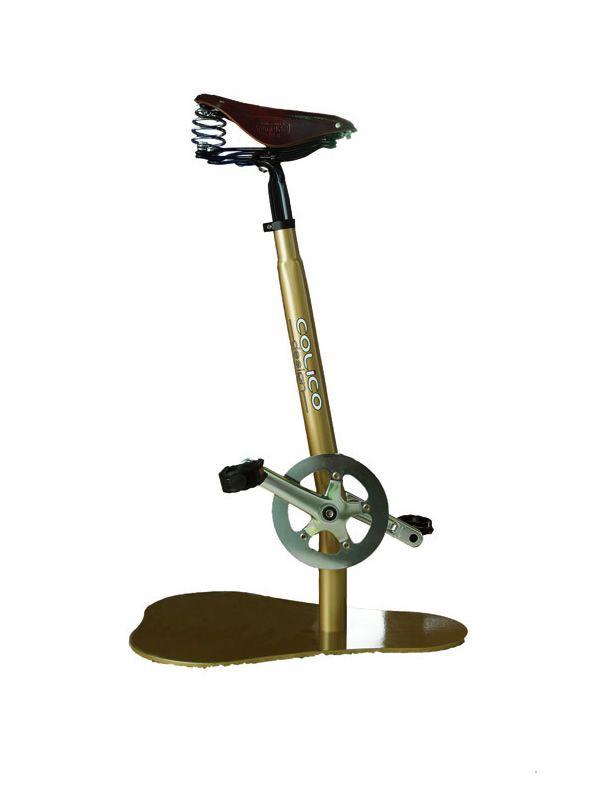 Pedal design hocker mit pedalen und satellf rmigem sitz for Design barhocker outlet