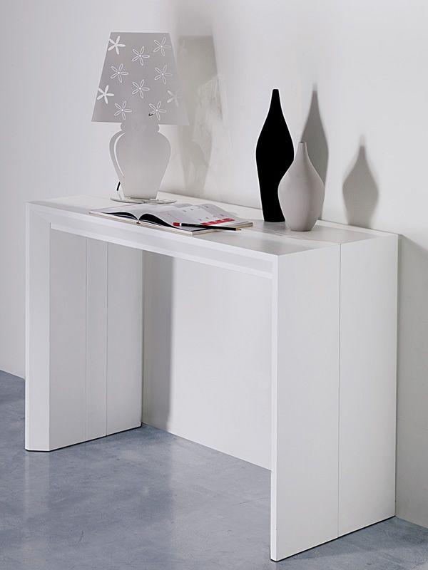 Golia consolle in legno 100x43 cm allungabile for Consolle legno