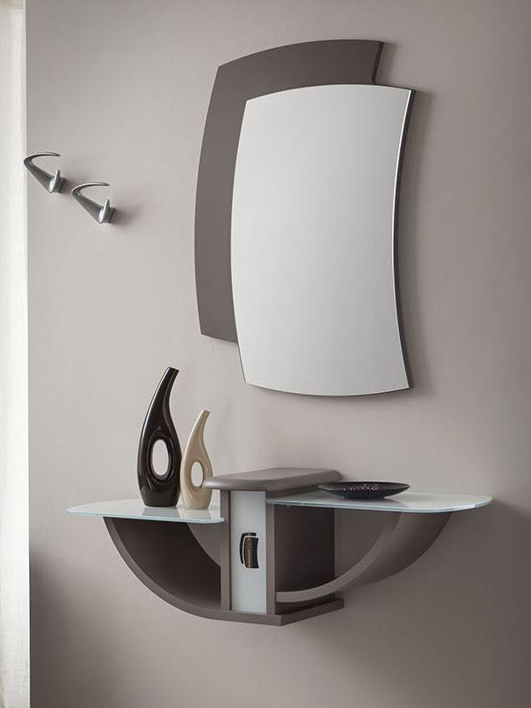 Pa164 mobile ingresso con specchio e appendini - Mobile d ingresso ...