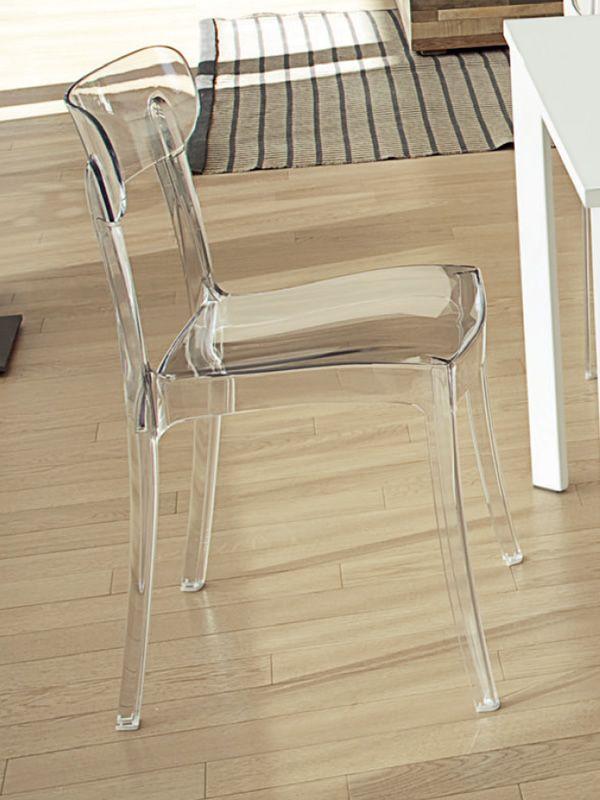New retr sedia impilabile domitalia in policarbonato for Sedie policarbonato