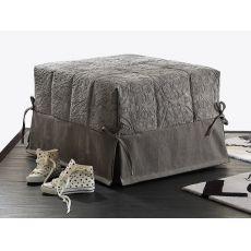 Puglia - Pouf letto, rivestimento in tessuto od ecopelle sfoderabile