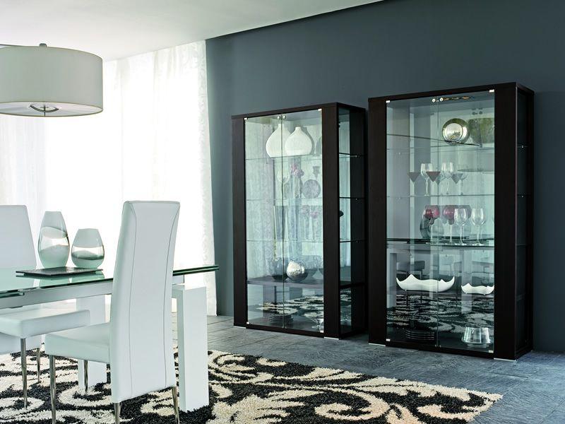 Aurora 6252 - Vetrina Tonin Casa in vetro e legno, diverse finiture disponibi...