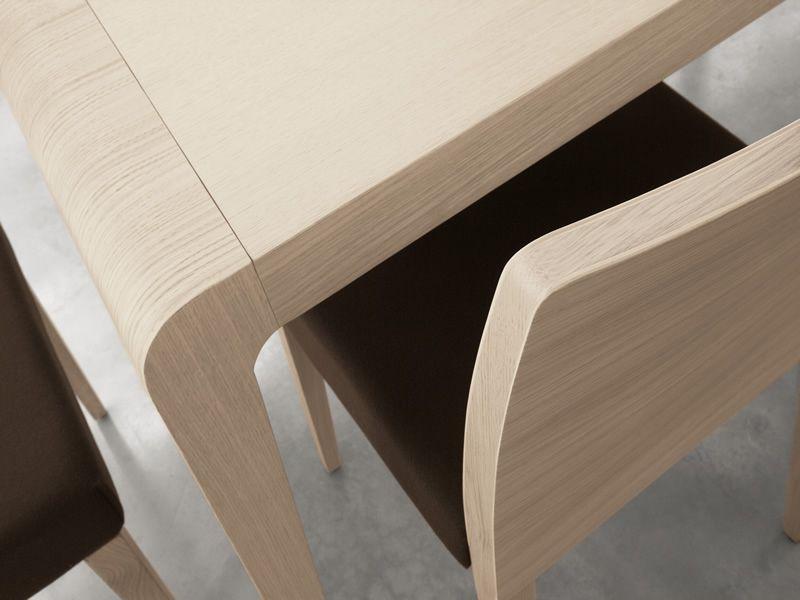 Exteso tavolo pedrali in legno 178 x 90 cm allungabile for Tavolo rovere design