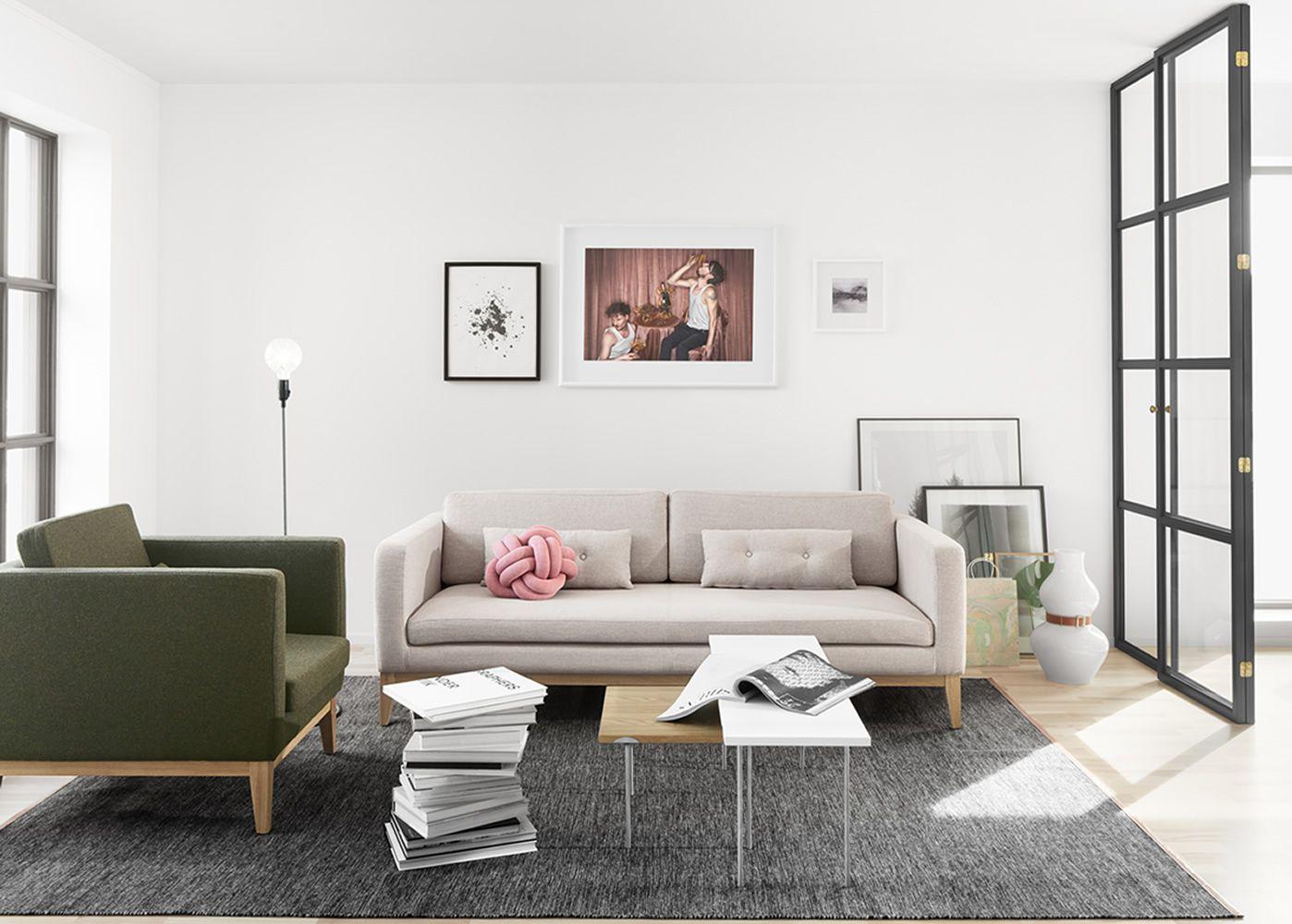 Divano Poltrona Scoop Imbottito Tessuto : Day divano con struttura e piedi in legno imbottito