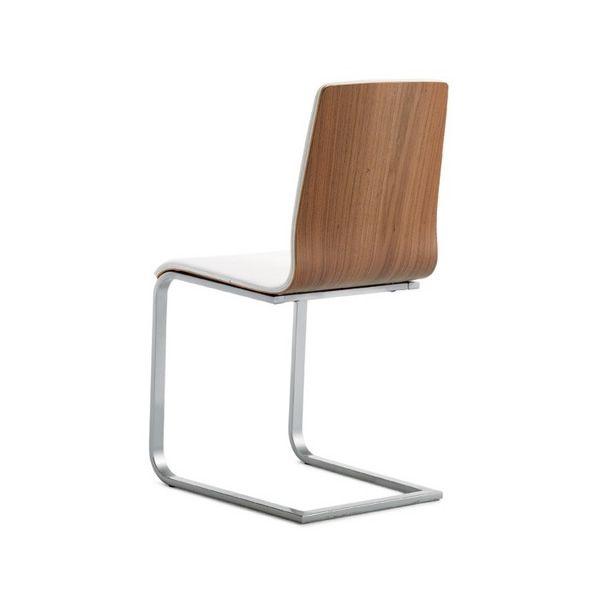Juliet sl chaise domitalia en m tal assise en multiplis et simili cuir se - Revetement simili cuir ...