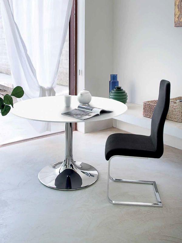 corona 120 runder tisch domitalia aus metall platte aus mdf oder glas durchmesser 120 cm. Black Bedroom Furniture Sets. Home Design Ideas
