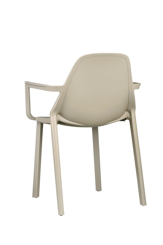 Pi p 2335 sedia con braccioli in tecnopolimero di vari for Sedie design tortora