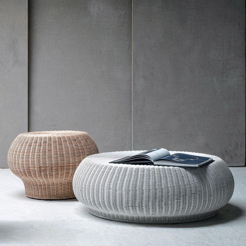 bolla 10 15 table basse pouf gervasoni en rotin disponible en diff rentes dimensions. Black Bedroom Furniture Sets. Home Design Ideas