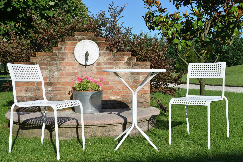 Rig83 tavolo rotondo in metallo diametro 60 cm per for Tavolo giardino metallo