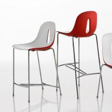 Gotham SG - Sgabello Chairs&More, in metallo e poliuretano, disponibile in diversi colori