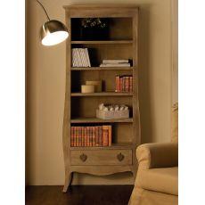 Certosa - Libreria in legno, con cassetto