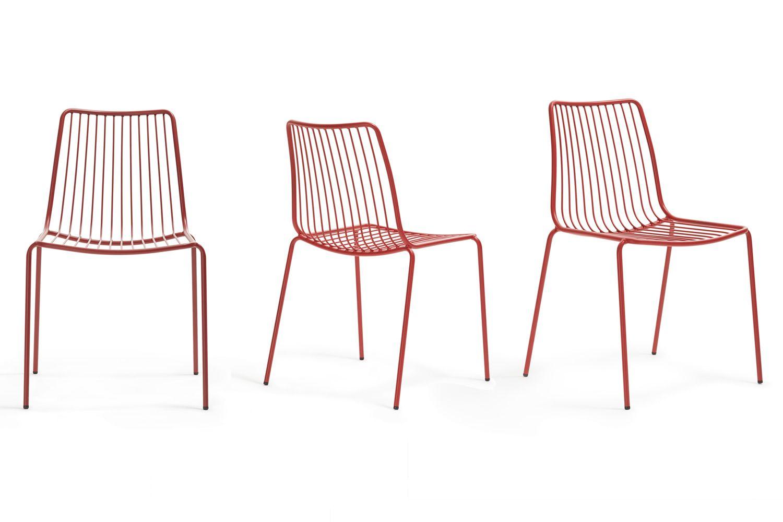 Nolita stuhl pedrali aus metall stapelbar f r den au enbereich in verschiedenen farben for Gartenstuhl metall