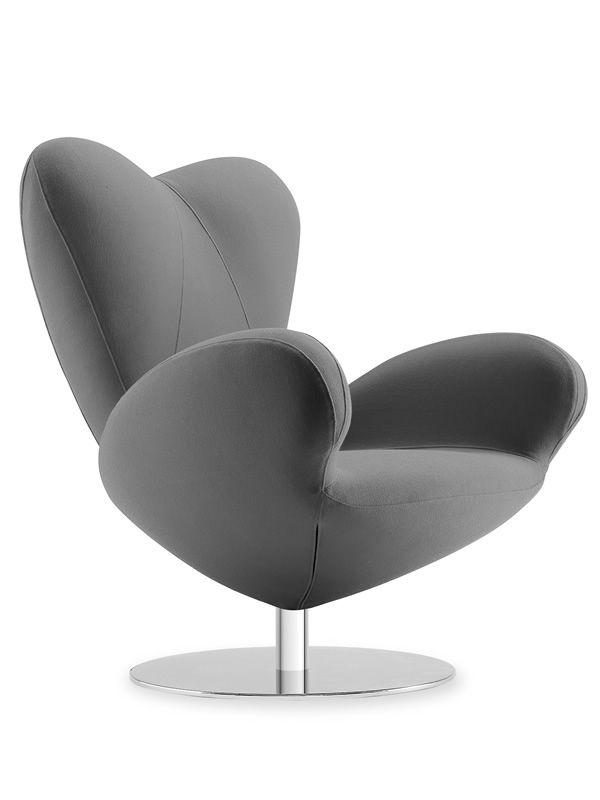 heartbreaker design drehsessel von tonon aus leder oder. Black Bedroom Furniture Sets. Home Design Ideas