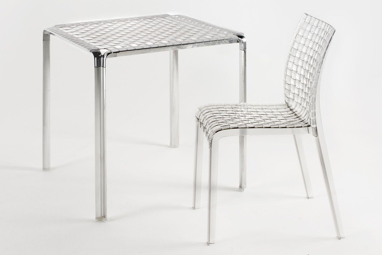 Ami ami table tavolo kartell di design in metallo piano - Tavolo policarbonato ...