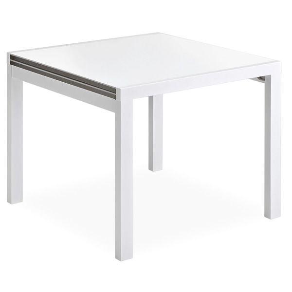 Cora 2 - Tavolo in legno, 80x80 cm, allungabile - Sediarreda