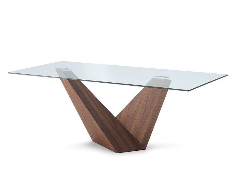 arica design tisch mit glasplatte 210x100 cm fix. Black Bedroom Furniture Sets. Home Design Ideas