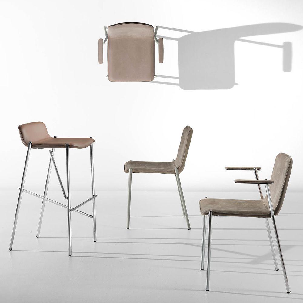 trampoliere sg feststehender hocker midj aus metall sitz mit leder kunstleder oder stoff. Black Bedroom Furniture Sets. Home Design Ideas
