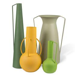 Vase Roman Set Set Of 4 Pols Potten Design Vases In Metal Sediarreda Com