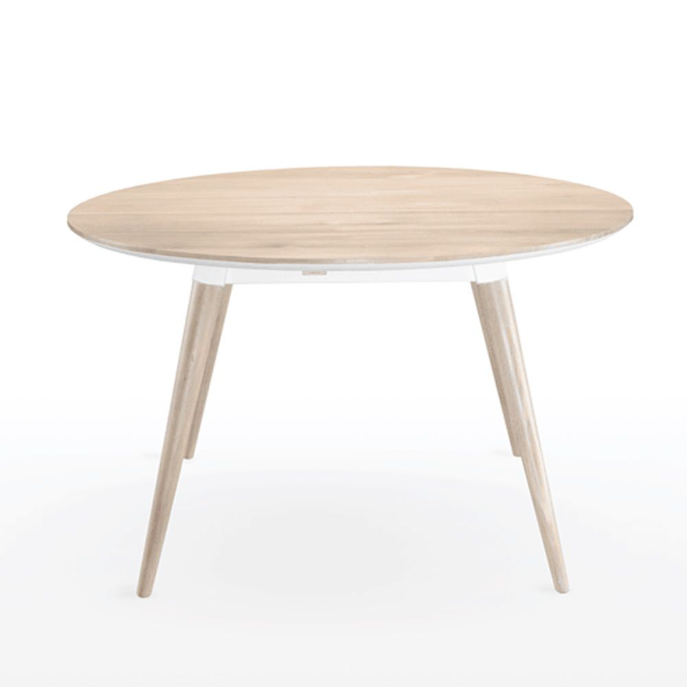 maria table ronde en bois fixe 130 cm disponible en. Black Bedroom Furniture Sets. Home Design Ideas