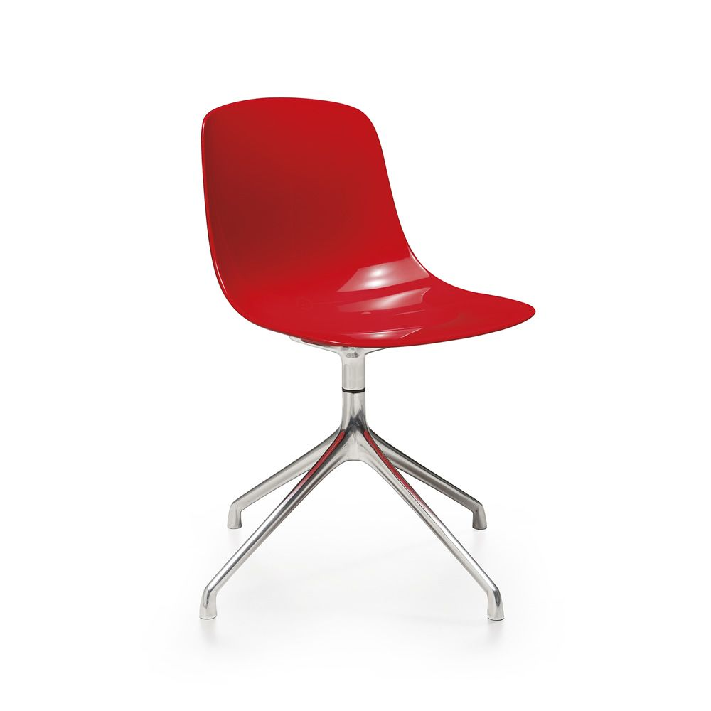 pure loop r drehbarer stuhl infiniti aus aluminium und polycarbonat auch mit rollen in. Black Bedroom Furniture Sets. Home Design Ideas