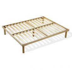 Rete Natural Bed - Rete letto fissa in legno con doghe in legno, diverse misure