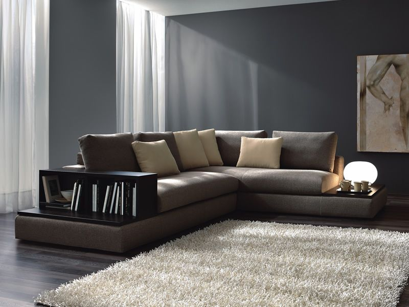 modernes sofa mit b cherregal und platte aus holz oceano super sediarreda. Black Bedroom Furniture Sets. Home Design Ideas