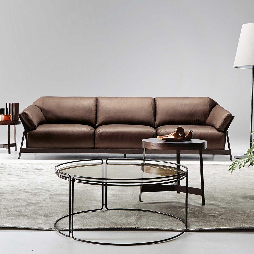 Divano Pelle Basamento Metallo Showtime : Key west divano moderno a o posti xl disponibile