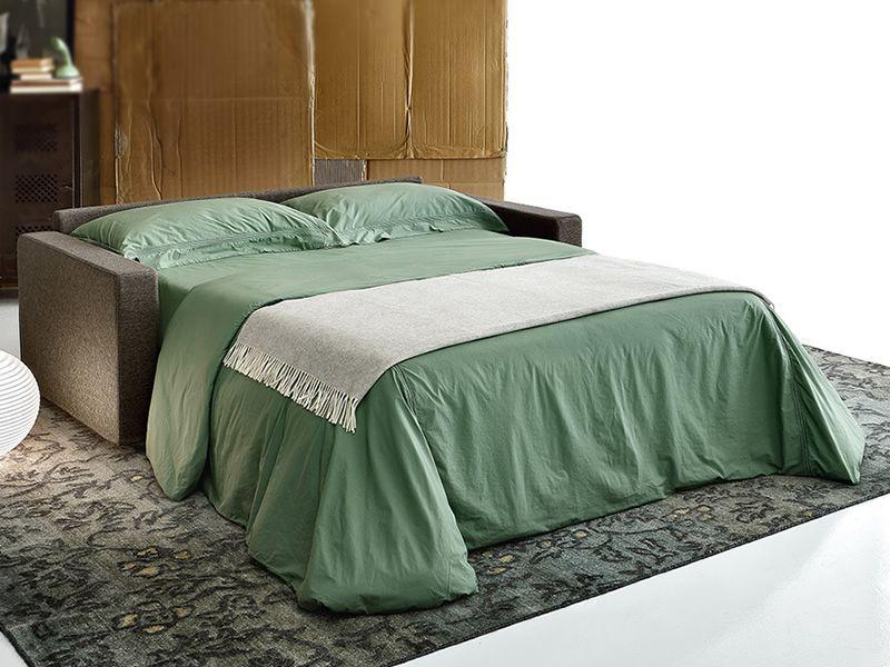 Abruzzo divano letto a 3 posti rivestimento in tessuto - Divano letto aperto ...