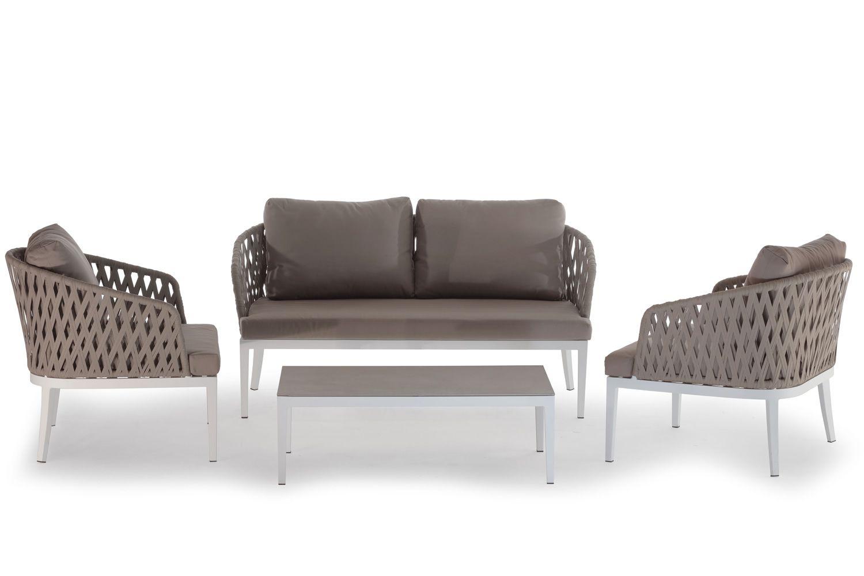 carmen garnitur f r den au enbereich aus aluminium mit acryl seile sediarreda. Black Bedroom Furniture Sets. Home Design Ideas