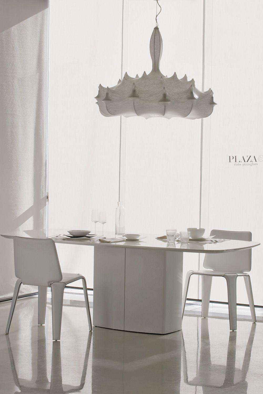 Aeror tavolo di design pedrali in metallo piano in for Tavolo sala da pranzo bianco