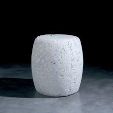 Satori - Pouf in materiale plastico bianco o multicolour, anche per giardino
