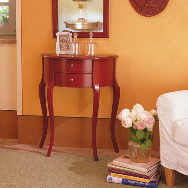 palisa 4260 klassische konsole tonin casa aus holz mit 2 schubladen in verschiedenen. Black Bedroom Furniture Sets. Home Design Ideas