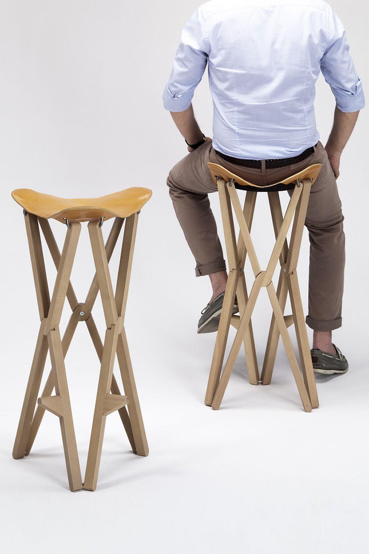 Treee camp stool sgabello pieghevole in legno massello for Sgabello pieghevole