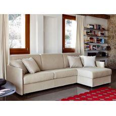 Aloe - Divano letto a 2 o 3 posti maxi, con chaise longue contenitore