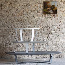 Bino - Tavolino Miniforms in metallo, con piano in mdf, disponibile in diverse dimensioni