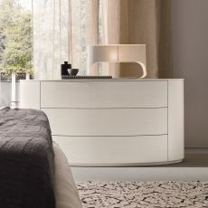Christal - Dall'Agnese chest of drawers made of wood, different finishes available, three drawers